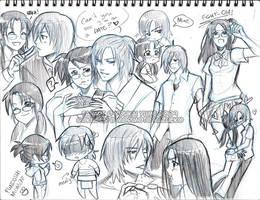 Gokusen - Shinkumi SketchDump by YoukaiYume