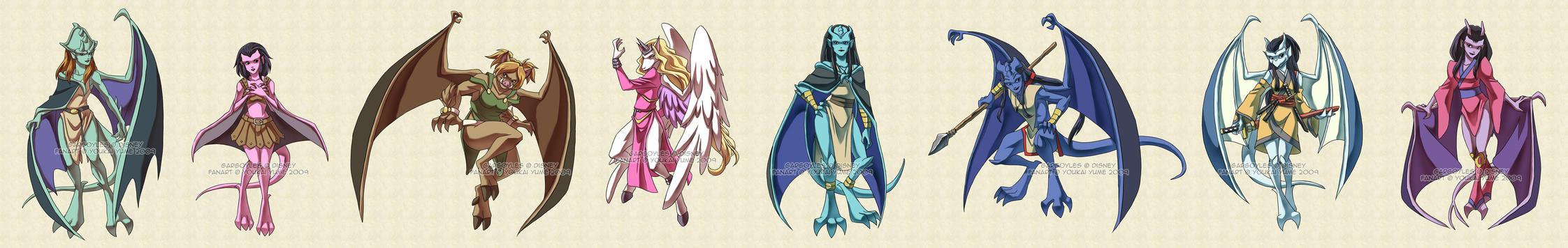 Gargoyles: Gar-girls 2 by YoukaiYume