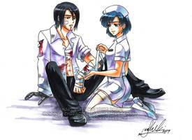 Sailor Mercury and Xandir by YoukaiYume