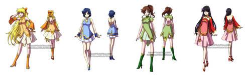 Kinmoku Fashion - Inner Senshi