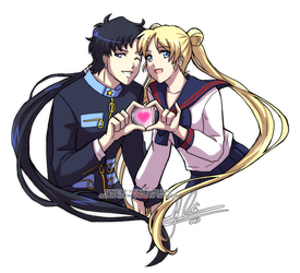 Seiya+Usagi: LOVE LOVE POWAH by YoukaiYume