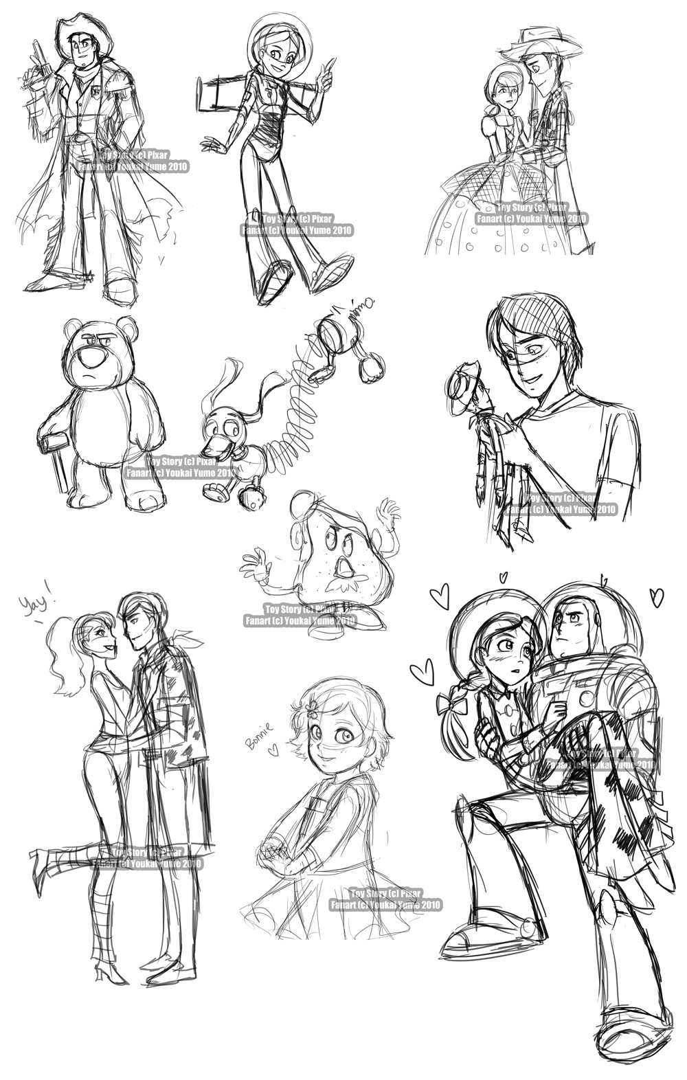 Toy Story Livestream Sketches By Youkaiyume On Deviantart