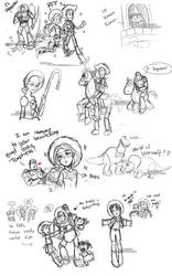 Toy Story Livestream Sketches2 by YoukaiYume