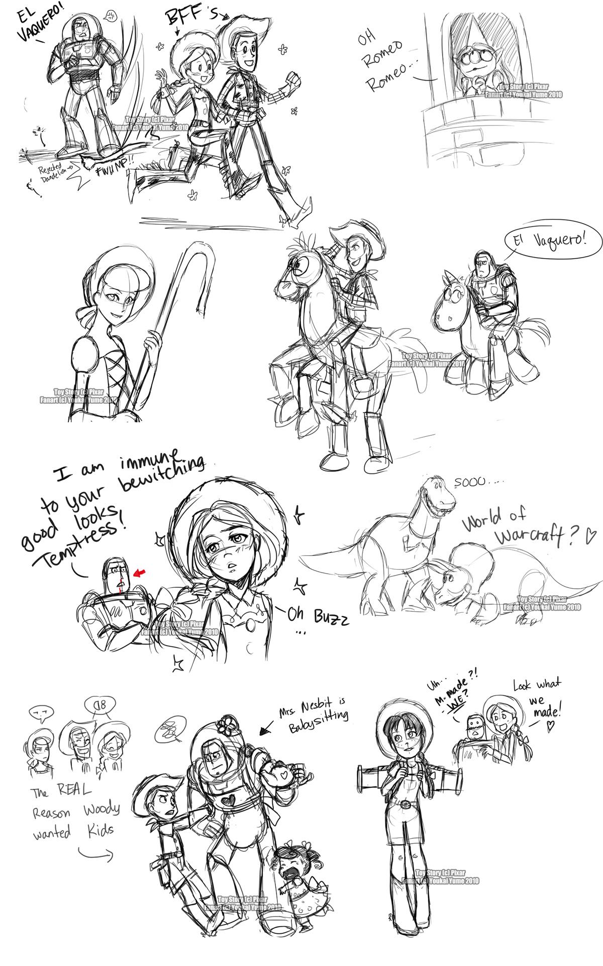 Toy Story Livestream Sketches2