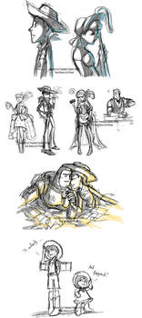 Toy Story Livestream Sketches4