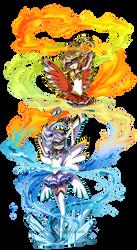PKMN Senshi: Tower Duo by YoukaiYume