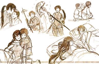 Moribito Sketches by YoukaiYume