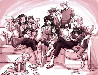 Family bonding by YoukaiYume