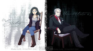Starling and Lecter by YoukaiYume