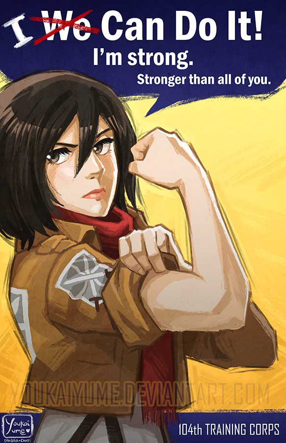 Mikasa Ackerman: One Woman Army by YoukaiYume