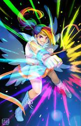 Sailor Rainbow Dash by YoukaiYume
