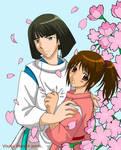 Spirited Away-Haku and Chihiro