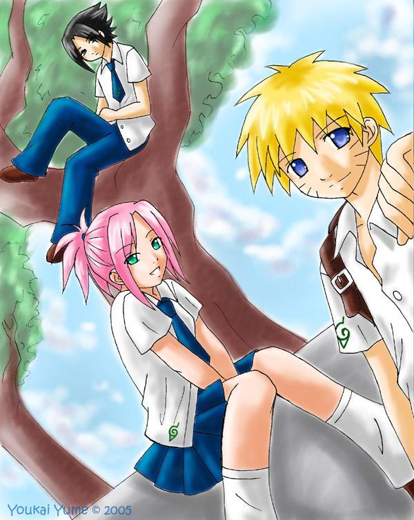 Naruto___Konoha_High_by_YoukaiYume