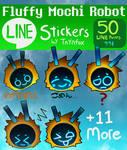 Fluffy Mochi Robot - 16 LINE stickers
