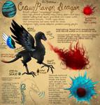Crow/Raven dragon by Tnynfox