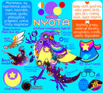 Nyota fursona sheet - Spring 2021