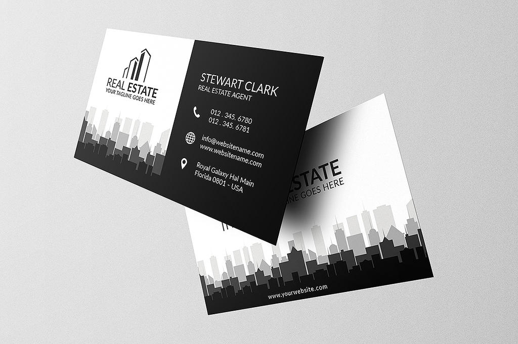 Black and white real estate business card by shahjhan on deviantart black and white real estate business card by shahjhan colourmoves