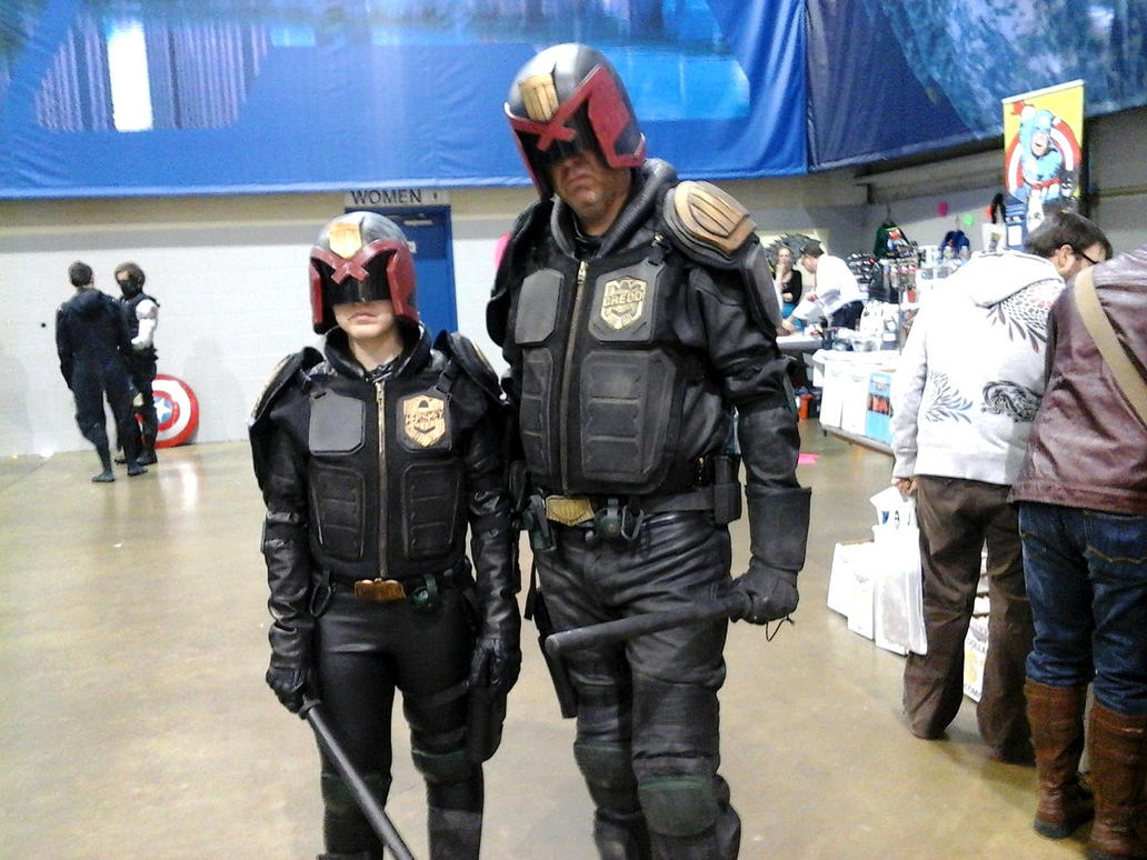 Judge Dredd and Judge Hershey by WeaponTheory