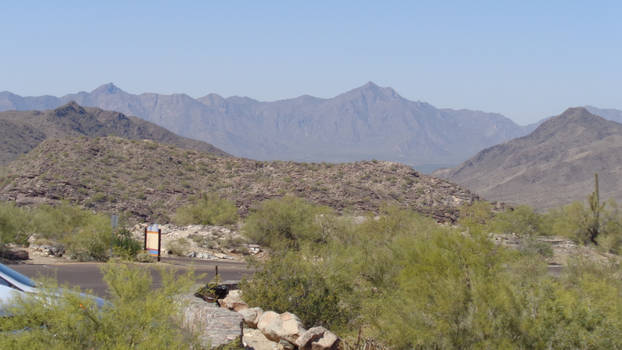 south mountain over looking phonix