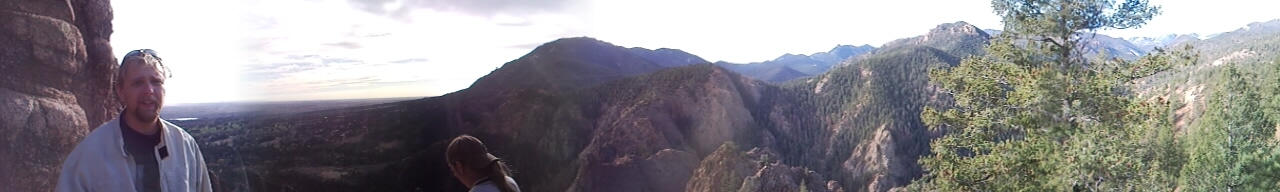 panorama of me in the Mtns