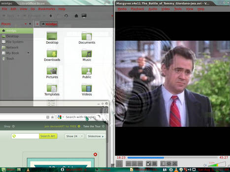Linux Mint 13 Water Drops customized out