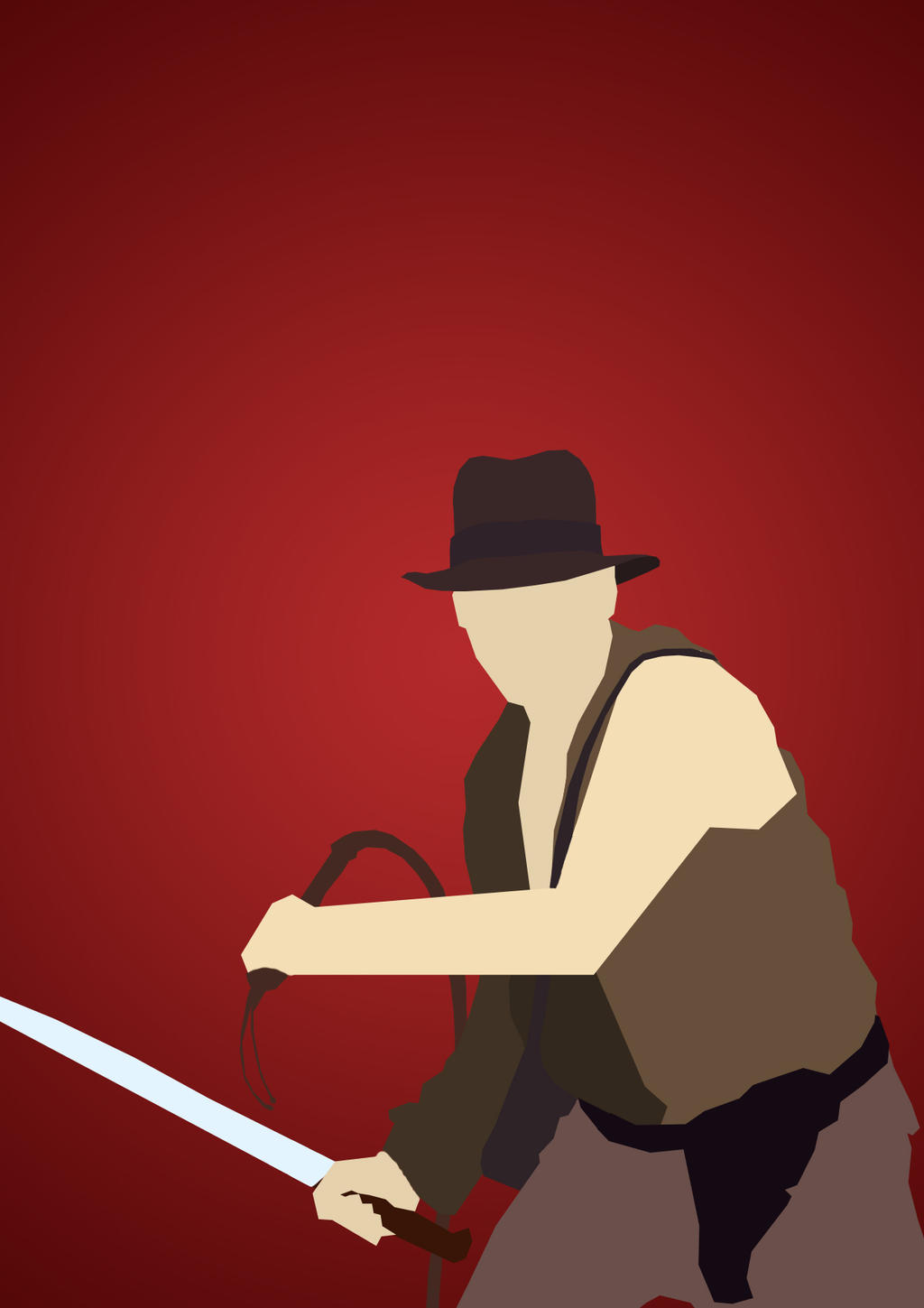 Indiana jones minimalist style by consideredbypeers on for Minimal art reddit