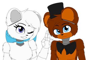 Skya and Freddy by Weruu-Chan