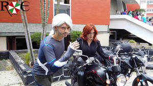 Pietro y Black Widow Cosplay