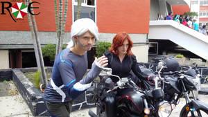Pietro y Black Widow Cosplay