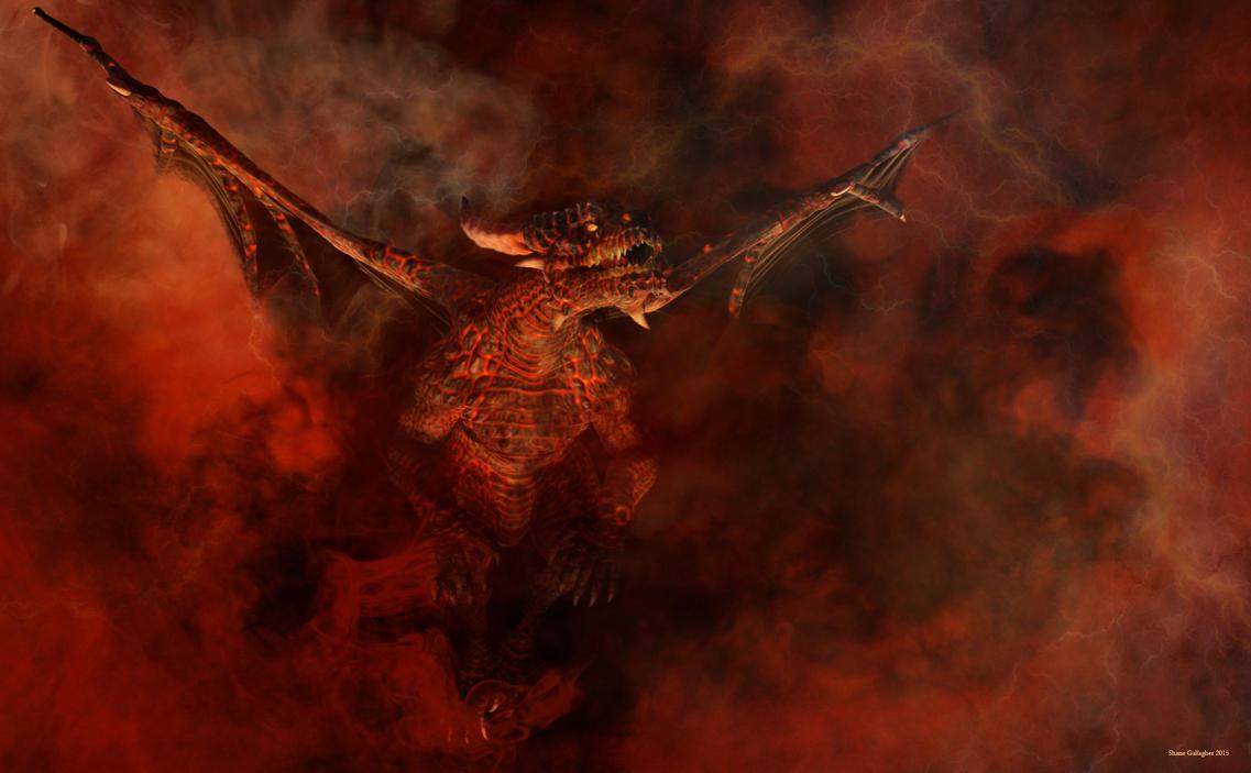 Hell born dragon by ShaneGallagher