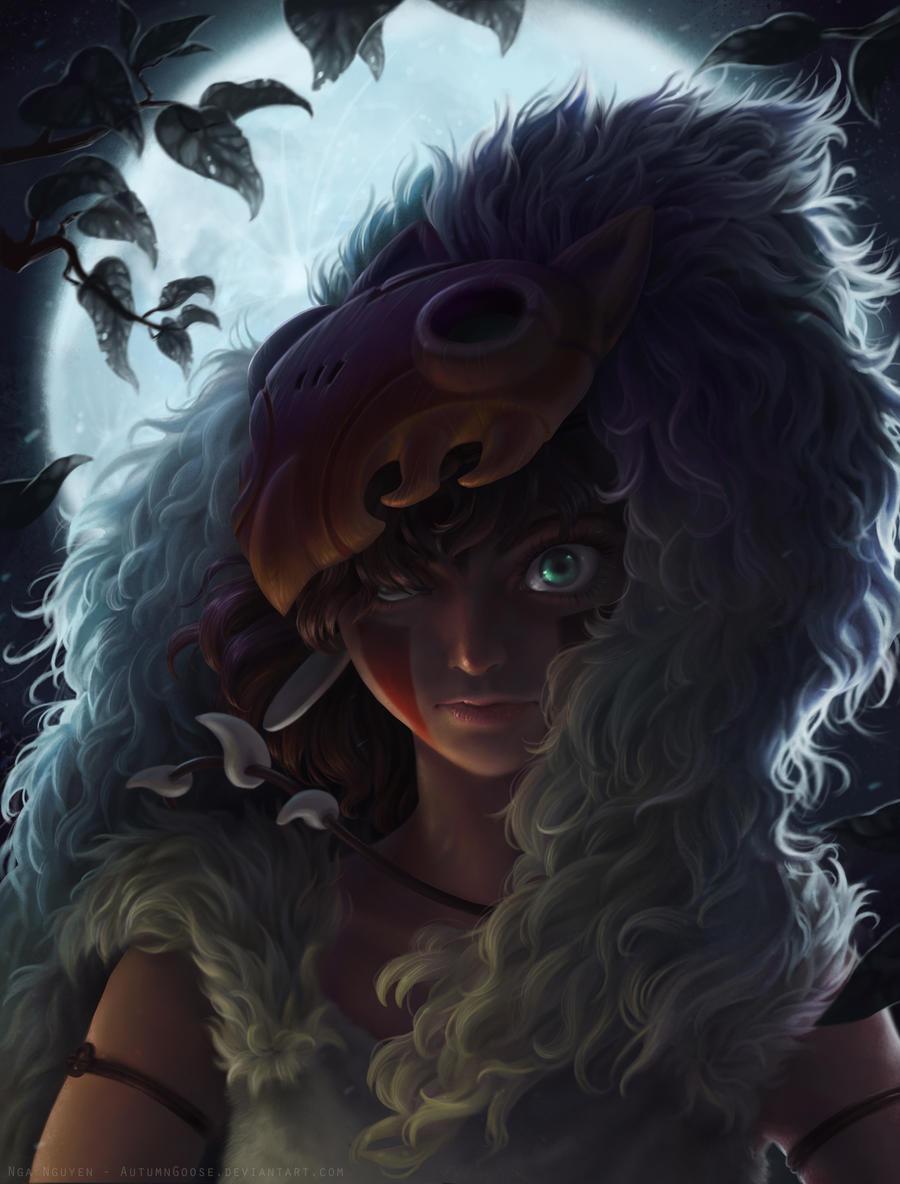 eye of the night - mononoke fan art by AutumnGoose