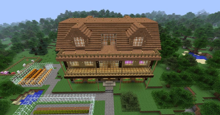 My minecraft house 2 by volcanosf on deviantart Make my home design