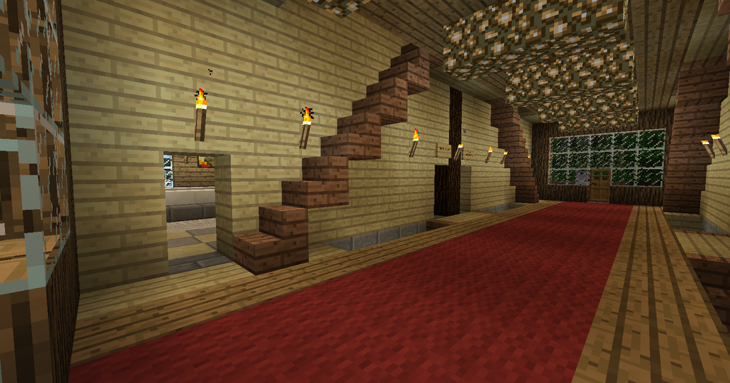My minecraft house 5 by volcanosf on deviantart for Minecraft house interior living room