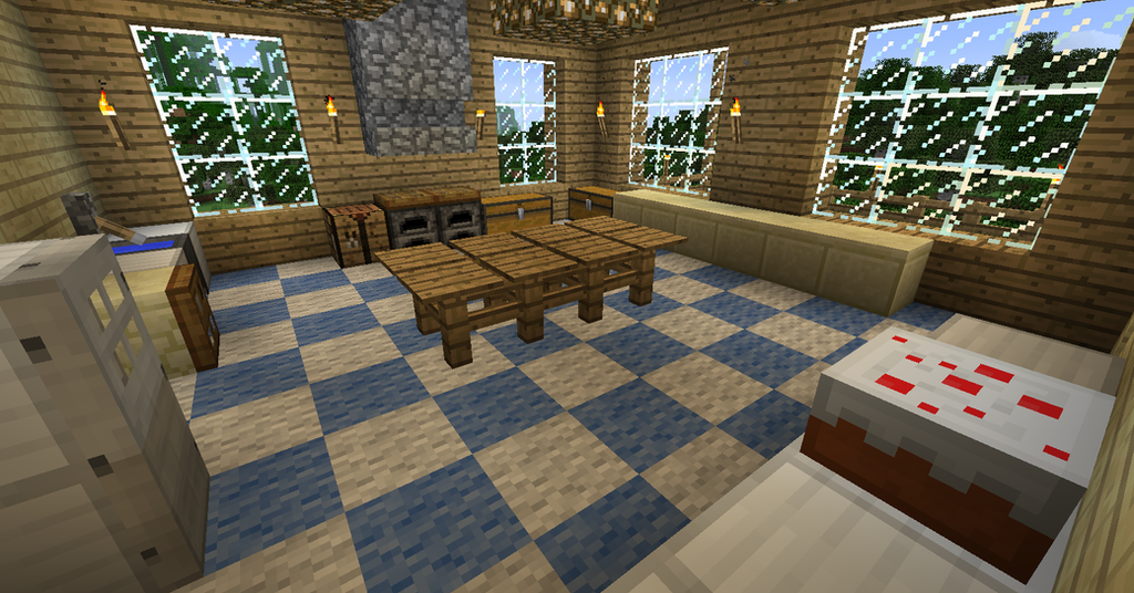 My minecraft house 8 kitchen by volcanosf on deviantart for Kitchen ideas minecraft