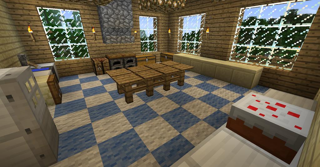 My minecraft house 8 kitchen by volcanosf