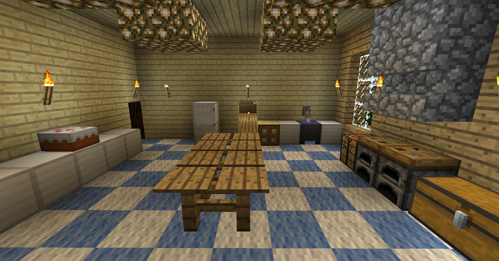 My minecraft house 9 kitchen 2 by volcanosf on deviantart for Kitchen ideas minecraft