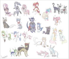 Furry Emblem thing Doodles by NLunachi