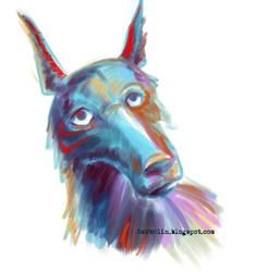 Dog-face long-face by DarkElin