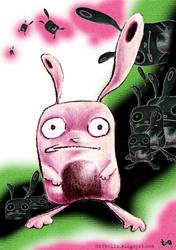 Bunny nightmares by DarkElin