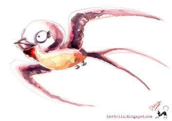 Purple Swallow by DarkElin