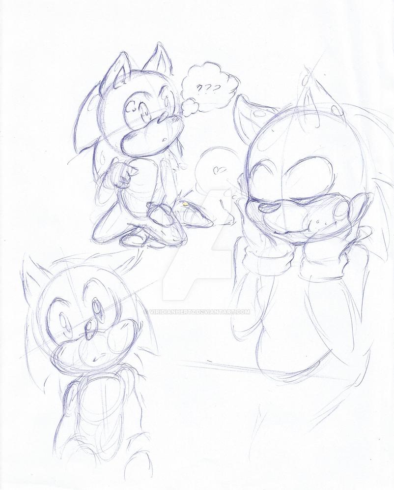 Cute Sonic by ViridianHertz