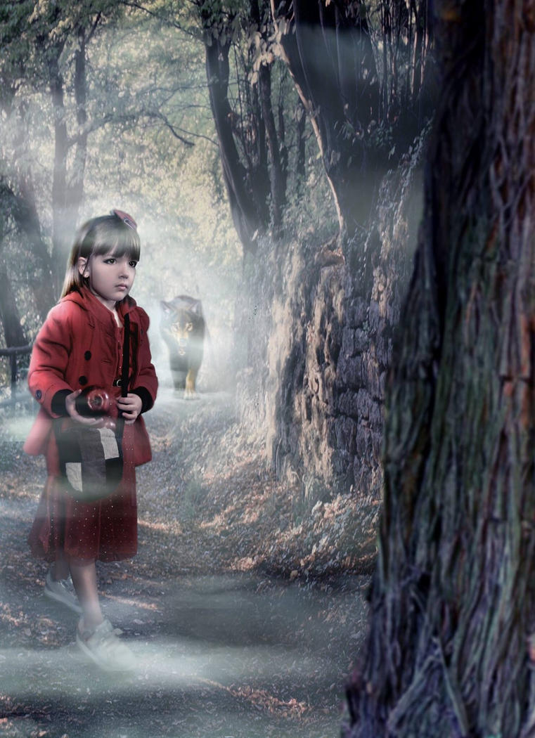 My daughter as Little Red Ridinghood by Koralene