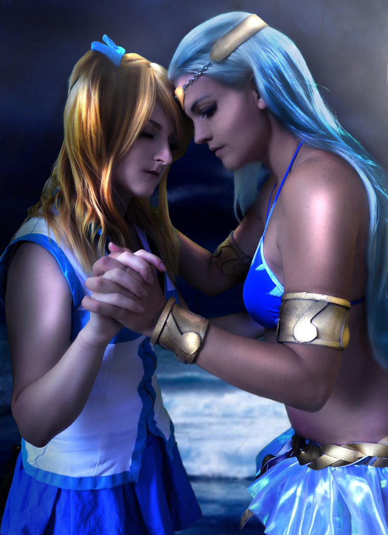 Aquarius and Lucy say goodbye by Koralene