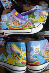 Custom Adventure Time shoes 1