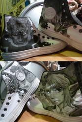 Custom Legend of Zelda shoes