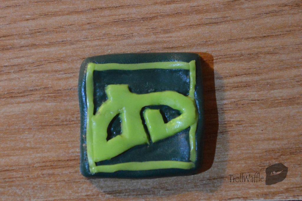 Polymer clay DA logo by trollwaffle