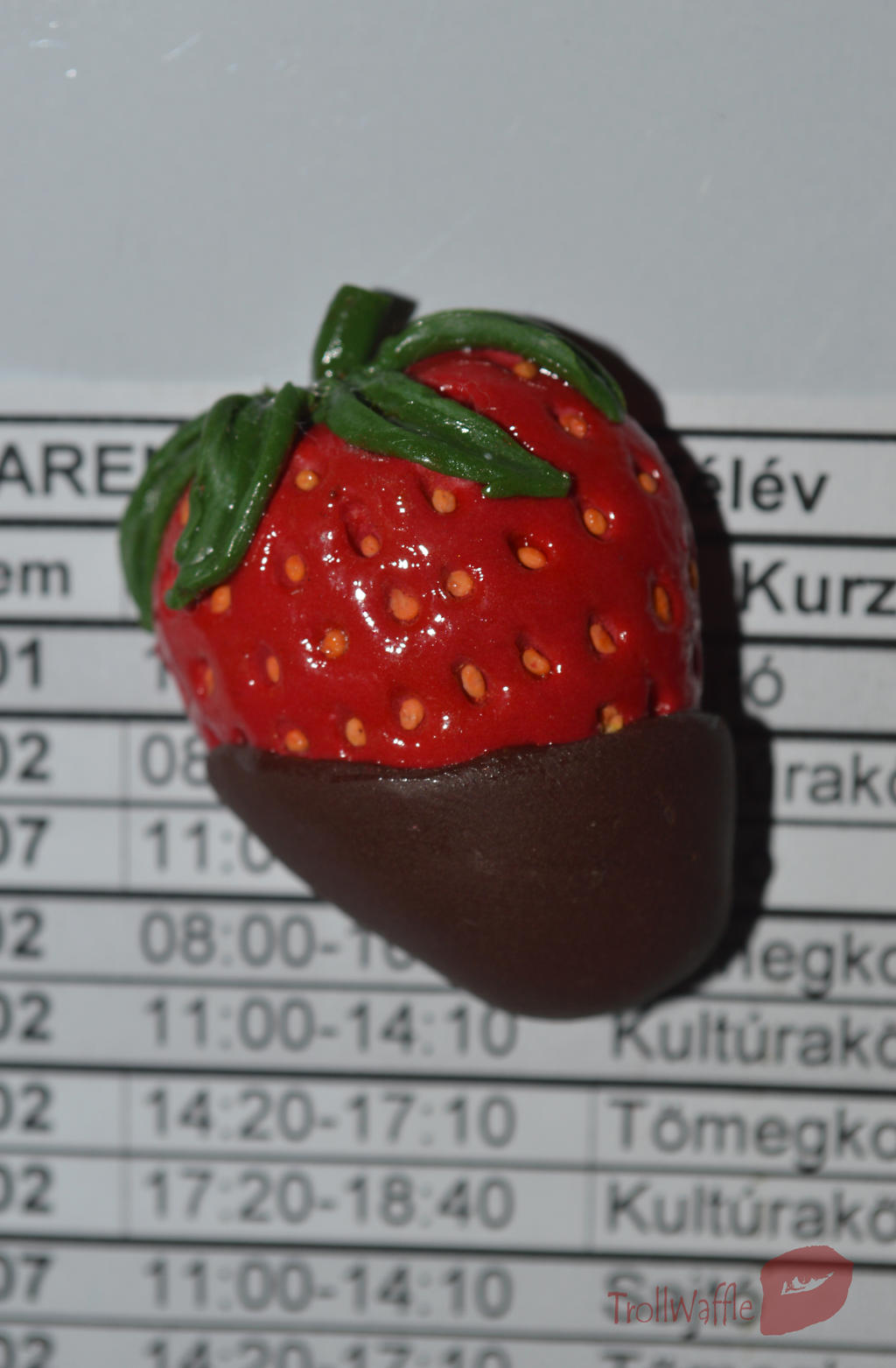 Chocolate-Covered Strawberry magnet by trollwaffle