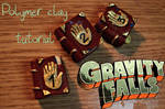 Polymer clay Gravity falls journals Video tutorial by trollwaffle