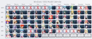 Windows 100% Model Calendar by Xoriu