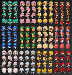 Vocaloid SpriteSheets by Xoriu
